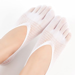 Ladies Stockings Velvet Fingers Summer Breathable Mesh Silica Gel Invisible Shallow Mouth Socks Vessels - Plum Black Money