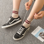 5 Pairs Men Double Stripe Ankle Cotton Socks Causal Socks - Mixed Color