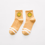 8 Pais Female Smile Face Socks - Random Color One Size
