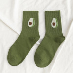10 Pairs Women Ankle Socks - Dark Green One Size