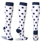20 Pairs Multi Pattrened Sports Compression Stockings Nurses Compression Socks for Travel Flying Bulk Wholesale - Black And White Striped Cuffs Red Models L / XL
