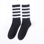 Tidal Wave Of Brand Socks For Men And Women In The Streets Of Barrel Stockings Autumn And Winter Cotton Socks Basketball Sports Fashion Hip-hop Personality - White PLAY With Paper Cards