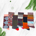 New Winter Men Women Crew Socks Casual Cotton Socks Creative Personality Europe Street Tide Stockings for Travel Flight - 1962V-A One Size