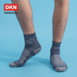 DANKENA New Winter Men Crew Socks Combed Cotton Thick Warm Outdoor Socks Terry Towel Socks Wholesale - M L 234-4 Black 40-45 EU