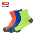DANKENA New Winter Sports Socks Fluorescent Color Breathable Mesh Nylon Basketball High Elastic Couple Socks Wholesale - M L Code In Another Link 35-39 EU
