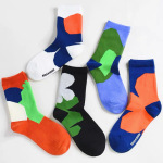 Tide Spring And Summer Flowers Flower Theatrical Cartoon Series Cotton Sports Socks For Men And Women In Tube Socks - White One Size