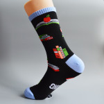 I'M Reading Crew Cotton Socks Christmas AB Sock Mismatched Words Socks - Blue