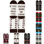 If You Can Read This  Personality Casual Cotton Socks Sports AB Sock Mismatched Socks Words Socks Novelty Socks - Wine - Black One Size