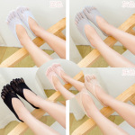 Fingers Velvet Stockings Ms. Summer Breathable Invisible Shallow Mouth Out With Silicone Anti-ship Socks Female - Color One Size