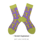 New Cotton Socks Personality Tide Graffiti Men And Women In Tube Socks Cartoon Creative Skate Socks - 19176-37 One Size