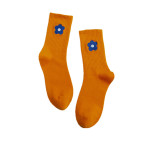 In Tube Socks Solid Color Flowers Tide Candy-colored Socks Student Socks Fashion Socks - Orange