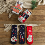 Boxed Christmas Stockings Japanese Style Fashion Cotton Socks Gifts - A Combination One Size