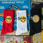 Street Hip-hop Smile Wind-in-tube Cotton Socks Tide Male And Female Couple Wild Sport Stockings - White One Size