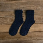 Autumn And Winter Socks Wool Socks Slouch Socks Retro Soft Socks - Black One Size
