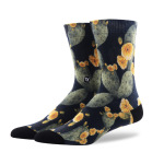 Men And Women Personalized Printing Tide Tube Socks Coolmax Flowers And Trees Pattern Socks - MK-6014 Size 39-43