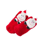 Coral Velvet Christmas Socks Female Socks Cute Cartoon Socks Children's Home Floor Socks Non-slip Socks Fluffy Fuzzy Socks - Elkhorn Children Size