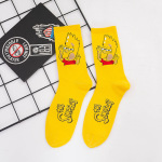 3 Pairs Personality Tide Simpson Socks Tide College Men And Women Skate Socks - Purple One Size