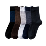 Simple Business Summer Thin Section M Thin Stripes Socks Odor Absorbent Socks - Navy One Size