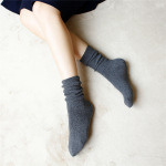 Bars Thick Line Of Fine Cotton Piles Of Socks Retro Autumn And Winter In Tube Socks - Turmeric One Size