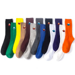 Fine Embroidery Bars Ins Materialized In Tubular Sock Piles Of Socks Solid Socks Cotton Socks - Deep Purple One Size