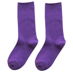 Women's Socks Autumn And Winter Socks Curling Candy-colored Japanese Pure Cotton Socks In Tube Tide Stockings - Indigo One Size