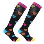 Knee High Pressure Hiking Compression Socks Graduated Compression Stockings for Flying Travel - Monkey One Size