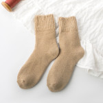 Winter Thick Wool Socks Plus Size Men Warm Cashmere Socks Plus Thick Cashmere Socks Towel Socks Fever Wholesale Fluffy Fuzzy Socks - Off-white Male