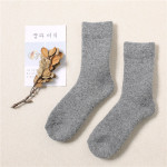 Winter Thick Wool Socks Plus Size Men Warm Cashmere Socks Plus Thick Cashmere Socks Towel Socks Fever Wholesale Fluffy Fuzzy Socks - Coffee Female Models