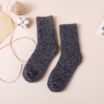 Autumn Winter Large Thick Terry Wool Socks Thick Warm Socks Men Women Casual Cotton Socks Crew Socks Floor Wholesale Fluffy Fuzzy Socks - Men Grass Green One Size