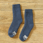 Winter Socks Female Socks Thick Warm Wool Socks Conductive Heat Plus Velvet Thick Terry Socks Thick Socks Male Wholesale Fluffy Fuzzy Socks - Men's Navy One Size