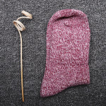 Autumn Winter Line-in-tube Flange Socks Ms Socks Slouch Socks Rabbit Wool Socks National Tide Snow Socks Wholesale Fluffy Fuzzy Socks - Purple One Size