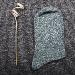 Autumn Winter Line-in-tube Flange Socks Ms Socks Slouch Socks Rabbit Wool Socks National Tide Snow Socks Wholesale Fluffy Fuzzy Socks - Grass-green One Size