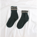Autumn Winter Thick Warm Rabbit Wool Socks Flanging Twenty-two Bars Slouch Thick Lines Crew Socks Wholesale Fluffy Fuzzy Socks - Blue One Size