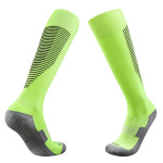 Football Compression Socks Towel Bottom Sweat Absorb Socks Thick Soccer Stockings Non Slip Socks - Orange Black Adult