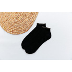 Spring Breathable Mesh Socks Female Socks Thin Gold Lace Socks Casual Comfortable Pure Cotton Socks Batch Ankle Stockings - Black One Size