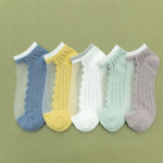 Socks Female Socks Shallow Mouth Ins Summer Thin Section Stealth Boat Socks Crystal Stockings Ankle Stockings - Light Green One Size