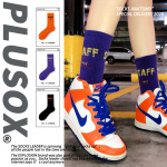 Autumn And Winter Cotton Letter Street Personality Tide Ms. Socks In Tube Socks Sports Socks - Black One Size