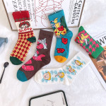 Fall Skateboard Socks Socks Fashion Trends On The Streets In A Long-barreled Socks Personalized Socks - Lake Blue