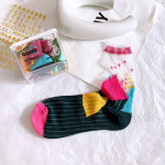 Department Of Piles Of Socks Wind Hit The Color Card Personalization Socks Stockings Socks Female - Pink One Size
