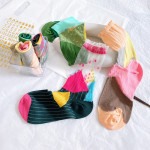 Department Of Piles Of Socks Wind Hit The Color Card Personalization Socks Stockings Socks Female - Rose Red Cuff Kasi One Size