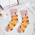 Spring And Summer Cartoon Tide Ms. Cotton Socks Socks Socks Personalized Stockings Street Style Fashion - Purple Unicorn