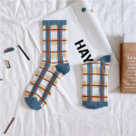 Ms. Cotton Socks Spring And Summer 20 Fashion Personality Wild Wind In Tube Socks Socks Socks Tide - Circle One Size