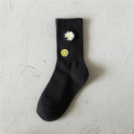 20 Women's Socks Cotton Socks Tide Wild Black And White Tube Socks Student Socks Red Book - Black Planet One Size