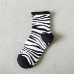 20 Women's Socks Cotton Socks Tide Wild Black And White Tube Socks Student Socks Red Book - White LOVE One Size