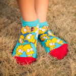Ms. Socks Female Japanese And Korean Cartoon Cotton Socks Shallow Mouth Sports And Leisure Candy Bar Socks - The Simpsons One Size