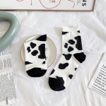20 Cows Flowers Spring And Summer Wind Socks In Tube Socks Cotton Socks Relent Curling Female Japanese Wild - Dairy Cow One Size