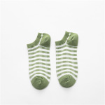 20 Spring And Summer Ms. Boat Socks Japanese Ins Wind Socks Female Wild Plaid Striped Socks - Green Coffee Plaid One Size