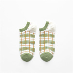 20 Spring And Summer Ms. Boat Socks Japanese Ins Wind Socks Female Wild Plaid Striped Socks - The White Stripes One Size
