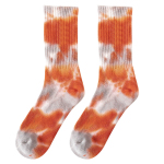 Tie Dye Crew Socks Smiley Tide Male Cotton Long Socks Skateboarding Personalized Socks - No Embroidery - Dark Blue -5 One Size