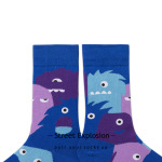 Winter Socks Street Street Chao 20 Sled Ins Illustration Ins Wind Sock Couple Male And Female Tubular Socks - 19176-35 One Size